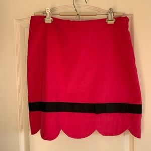 Hot pink skirt with black bow